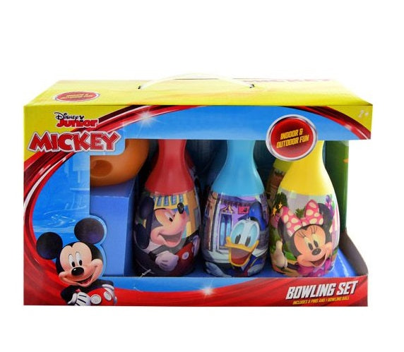 Mickey Mouse Bowling Set Toy Game Kids Birthday Gift Toy 6 Pins &1 Ball
