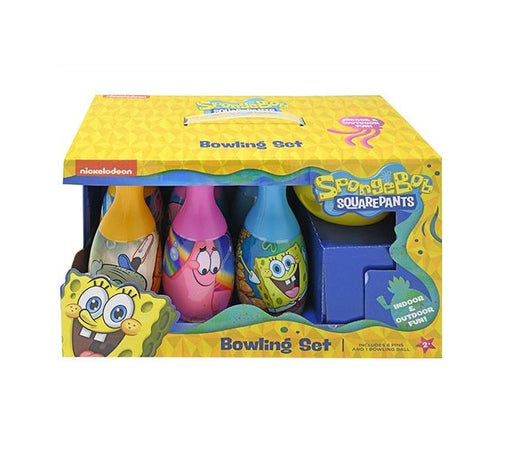 SpongeBob Squarepants Bowling Set Toy Game Kids Birthday Gift Toy 6 Pins &1 Ball