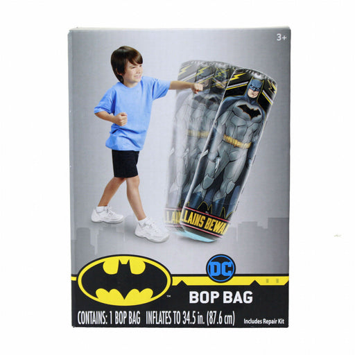 DC Comics Batman Inflatable Bop Bag and Bop Gloves Kids Punching Bag