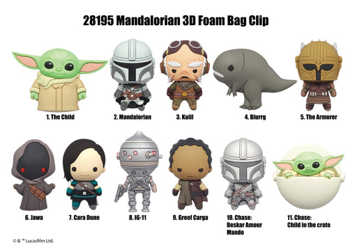 Star Wars: Mandalorian 3-D Foam Figural Bag Clip Blind Bag