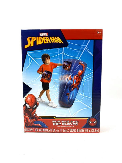 MARVEL Spider-Man Inflatable Bop Bag and Bop Gloves Kids Punching Bag