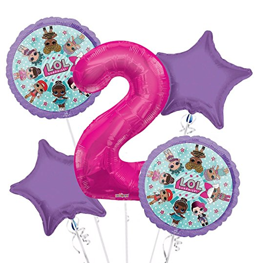 LOL Party Supplies 5th Birthday Balloon Bouquet Decorations