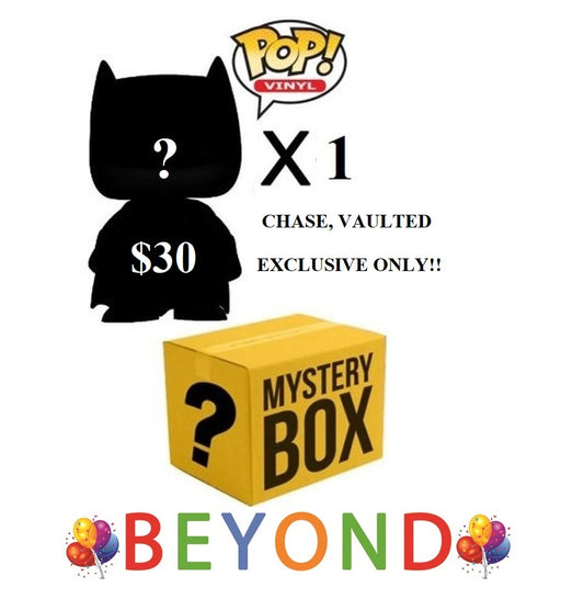$30 FUNKO POP BEYOND Mystery/Surprise Box! Guaranteed EXCLUSIVE, CHASE, CONVENTION (only) (NO COMMON) (PLEASE READ)