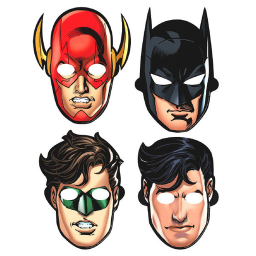 Justice League Heroes Unite Masks 8ct