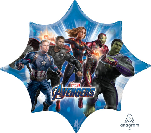 "Anagram Marvel Avengers Endgame Jumbo 35"" inch SuperShape Foil Mylar Balloon"