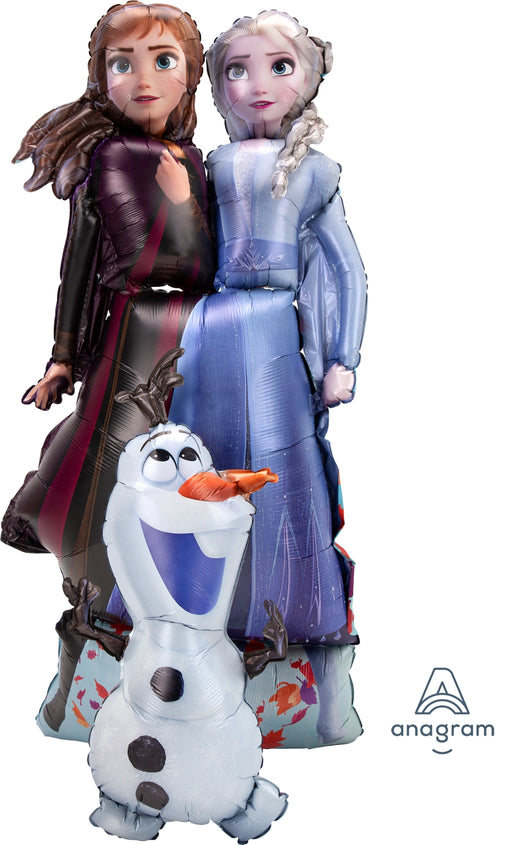 "Frozen 2 Elsa, Anna & Olaf Airwalker 27""in x 58"" in Birthday Party Jumbo Balloon Decoration"