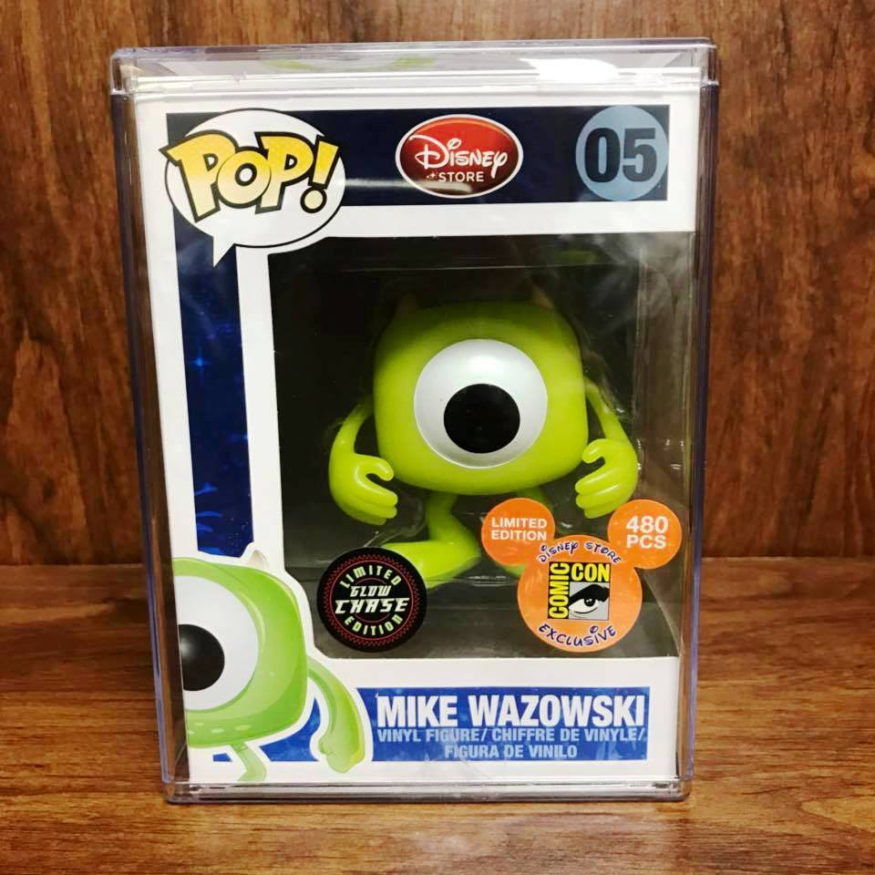 Pop DisneyStore Monsters University - Mike Wazowski Glow Chase Vinyl Figure