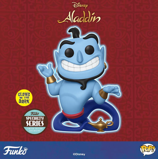 Funko Pop Specialty Series : Aladdin - Genie with Lamp #476 Vinyl Figure With protector case