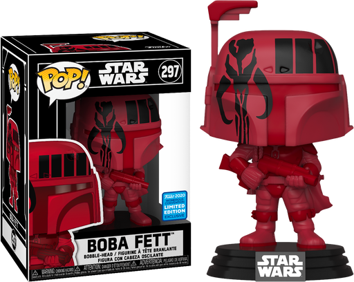 Funko Pop Star Wars:  Boba Fett™ Vinyl Bobble-Head LIMITED EDITION #297 Comes with a Pop Stacks Protector!