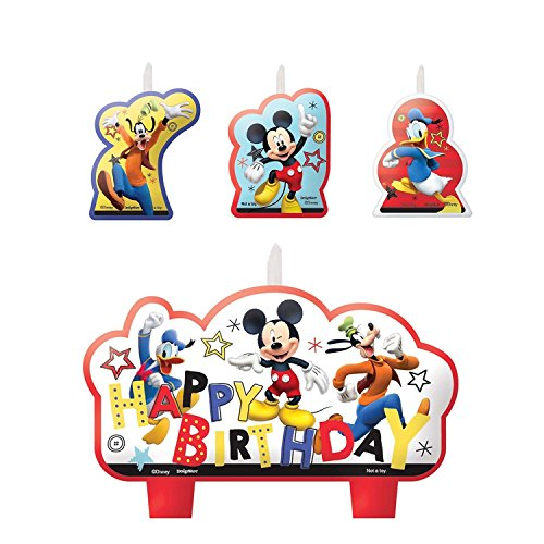 Mickey Mouse Birthday Candles - 4ct Set