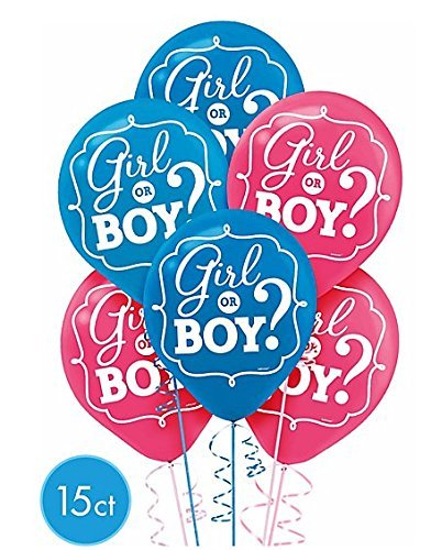 ? Gender Reavel Boy or Girl? Latex Balloons (15ct) Birthday Party Supplies 12""