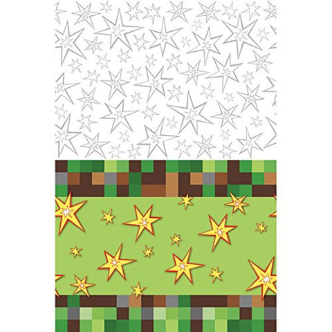 TNT Minecraft Pixel - Birthday Table Cover Measures 54 in x 96 in, 36 sq ft