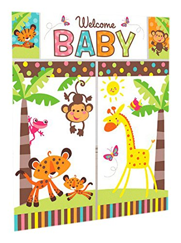 Welcome Baby Wall Decorating Kit Baby Shower (5pc) over 6 feet ~ Party Supplies