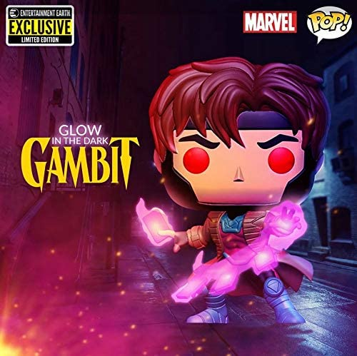 Funko POP! Marvel: X-Men Classic Gambit Glow in The Dark Entertainment Earth Exclusive Vinyl Figure #553