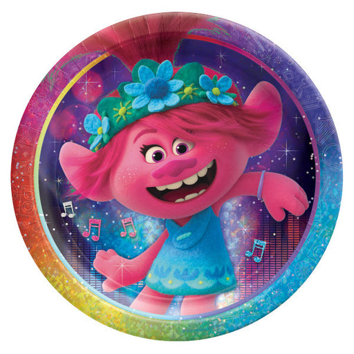 Trolls World Tour: Lunch Plates 8ct