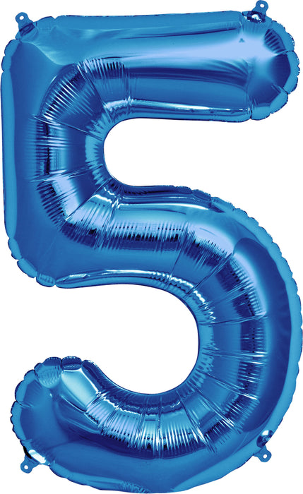 "Giant 34"" Mylar Foil Blue Number Balloons **HELIUM/AIR ARE NOT INCLUDED**"