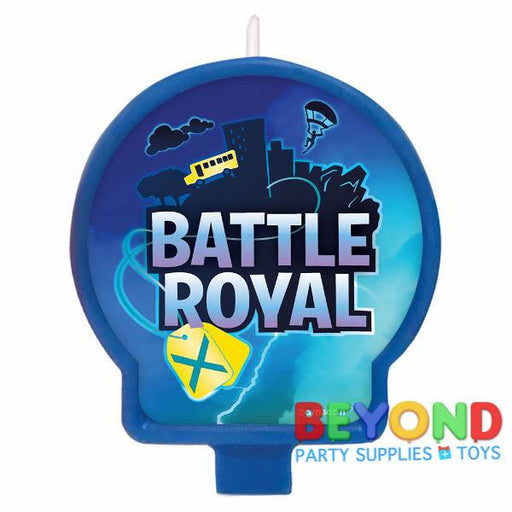 Fortnite Battle Royal Birthday Cake 1x Candle ~ Birthday Party Supplies Cake topper