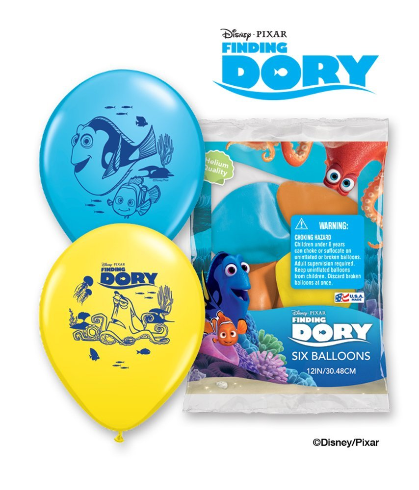 Finding Dory Latex Balloons (6ct) Birthday Party Supplies 12""
