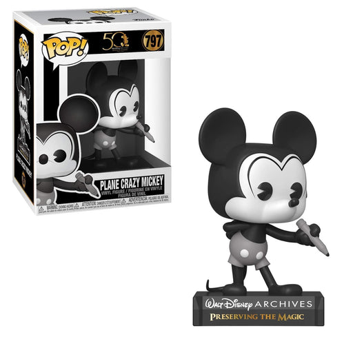 Funko Pop! 50 Walt Disney: Archives - Plane Crazy Mickey Mouse Vinyl Figure #797