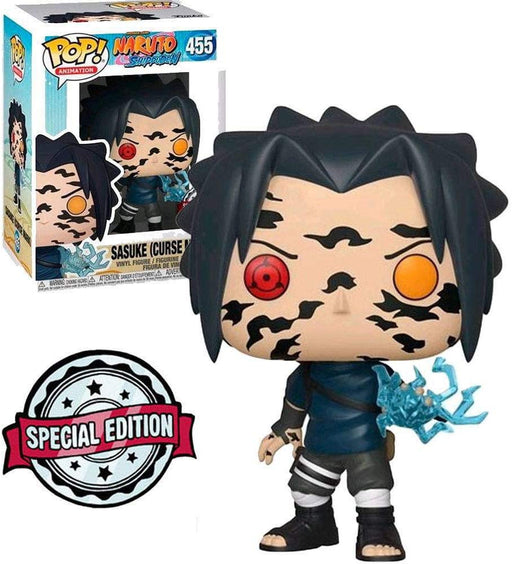 DAMAGE BOX! Funko Pop! Animation: Naruto - Sasuke (Curse Mark) #455 Vinyl Figure Special Edition Sticker