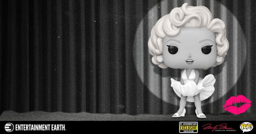Funko POP! Icons Marilyn Monroe Black and White Vinyl Figure - Entertainment Earth Exclusive