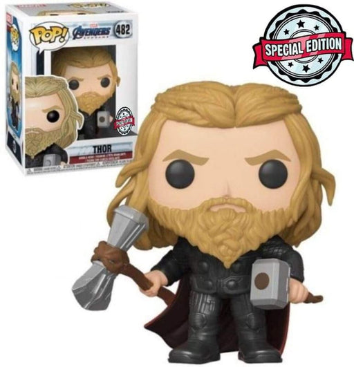 Funko Pop Thor with hammer Avengers Endgame Exclusive Special Edition Sticker #482