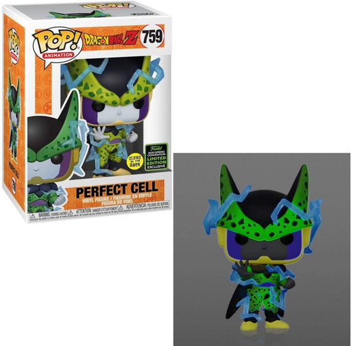 Funko POP! Dragon Ball Z #759 - Perfect Cell Glow in The Dark ECCC 2020 Shared Exclusive