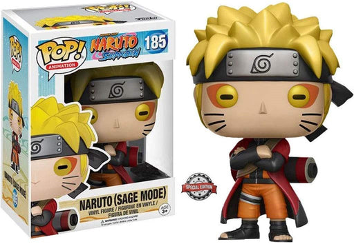Funko Pop! Naruto Shippuden - Naruto (Sage Mode) Vinyl Figure #185 Special Edition Sticker Hot Topic Exclusive