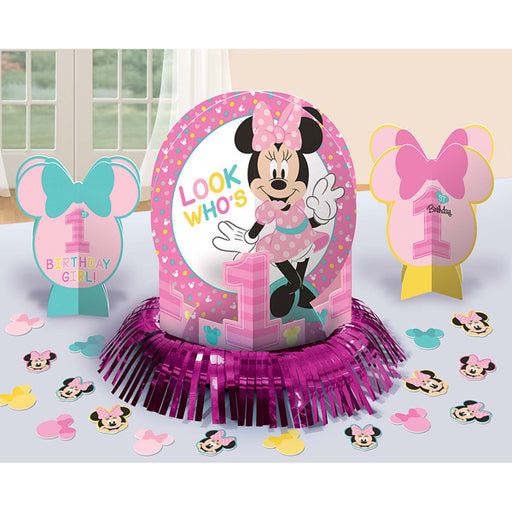 Disney 1st Year Old Minnie Mouse Assorted Table Decorating Kit Decoration Party Supplies
