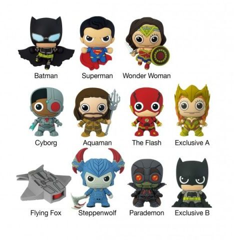 DC Comic: Justice League - 3D Figural Keyring Blind Bag