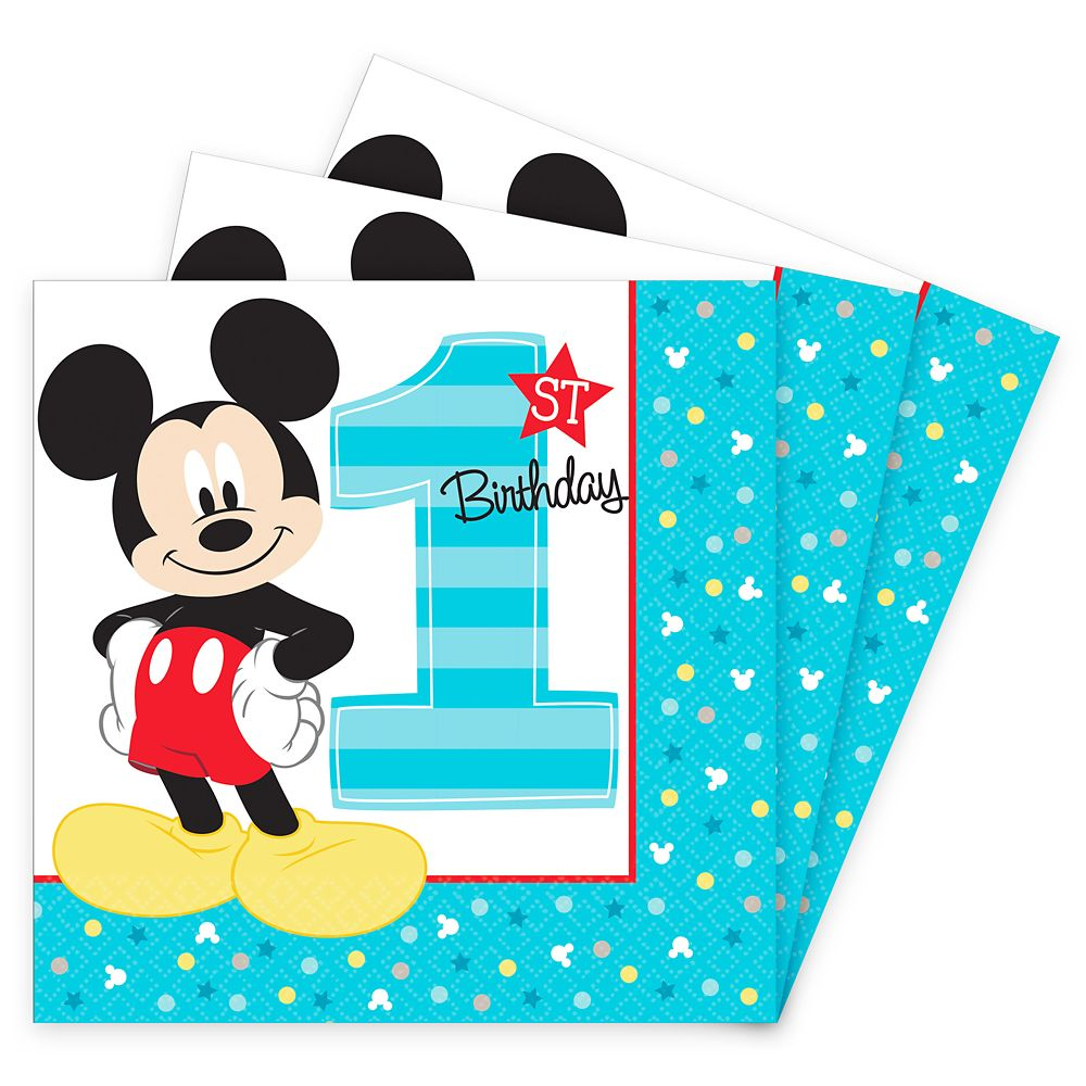 Mickey 1st Birthday Party Fun To Be One Luncheon Napkins (16 Count)