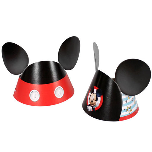 Disney Mickey Mouse Paper Die-Cut Ear Hats 8ct