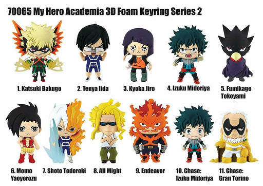 My Hero Academia: 3-D Figural Key Chain Blind Bag - Series 2