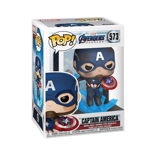 Marvel: Avengers Endgame - Captain America w/ Broken Shield & Mjoinir Vinyl Figure