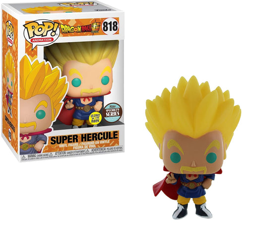 Funko Pop! Animation Dragon Ball Super Super Saiyan Hercule Vinyl Figure Glow in The Dark (Specialty Series)