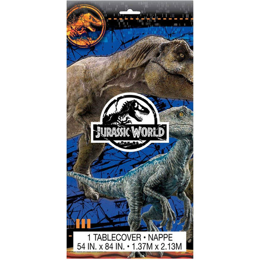 Unique Jurassic World - Dinosaurs Birthday Plastic Table Cover Measures 54 in x 96 in, 36 sq ft