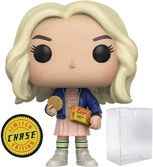 Funko Pop! Television: Stranger Things Blonde Wig Eleven with Eggos Vinyl Figure #421 (CHASE) Limited Edition!