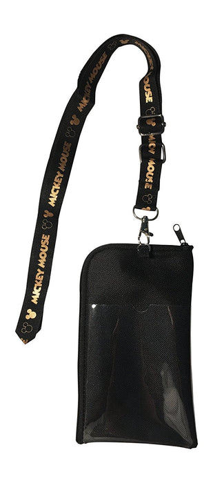Mickey Mouse Ears Head Lanyard Pouch - Gold