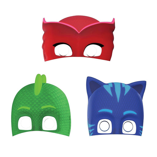 PJ Masks Birthday Paper Masks (8 ct) Party Supplies