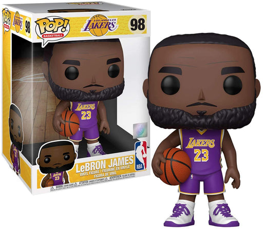 Funko POP NBA - Lakers - 10 inch Lebron James (Purple Jersey) Vinyl Figure #98