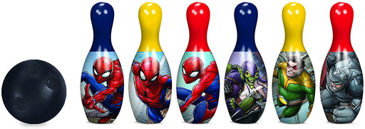 Spiderman Bowling Set Toy Game Kids Birthday Gift Toy 6 Pins &1 Ball
