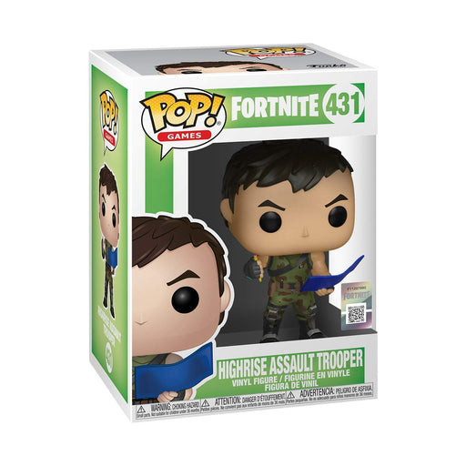 Funko Pop Games : Fortnite : Highrise Assault Trooper #431 Vinyl Figure with .5 mm Protector Case