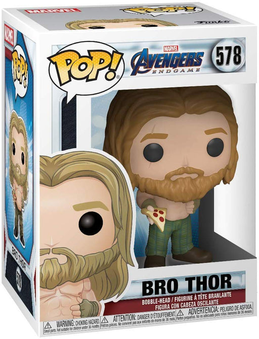 Funko Pop! Marvel: Avengers Endgame - Bro Thor with Pizza Vinyl Figure