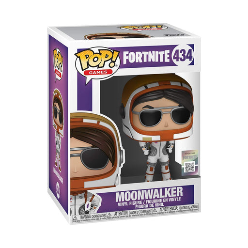 Funko Pop Games : Fortnite : Moonwalker #434 Vinyl Figure with .5 mm Protector Case