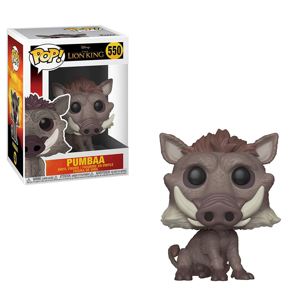 Funko Pop Disney Lion King (Live Action) - Pumbaa #550 Vinyl Figure with .5mm protector case