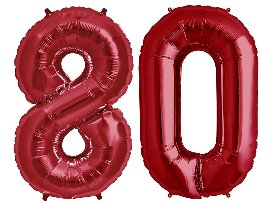 "Giant 34"" Mylar Red Foil Number Balloons **HELIUM/AIR ARE NOT INCLUDED**"