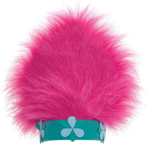 amscan Trolls Poppy's Hair Wig Deluxe Hat, Trolls Collection, Party Accessory