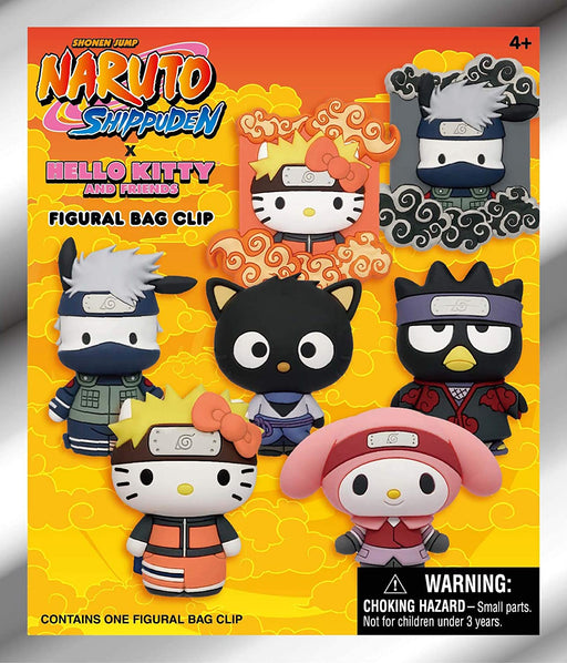 PRE-ORDER Naruto x Hello Kitty and Friends 3D Figural Keyring Blind Bag