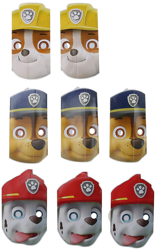 Nickelodeon Paw Patrol - Birthday Paper Masks (8 ct) Party Supplies