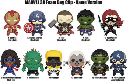 Marvel: Avengers Gameverse 3-D Figural Bag Clip Blind Bag